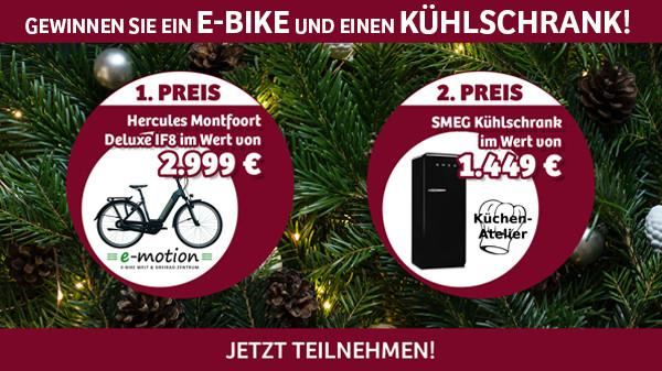 Jetzt E-Bike oder Kühlschrank gewinnen!